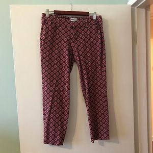 Old Navy patterned pixie work/dress pants